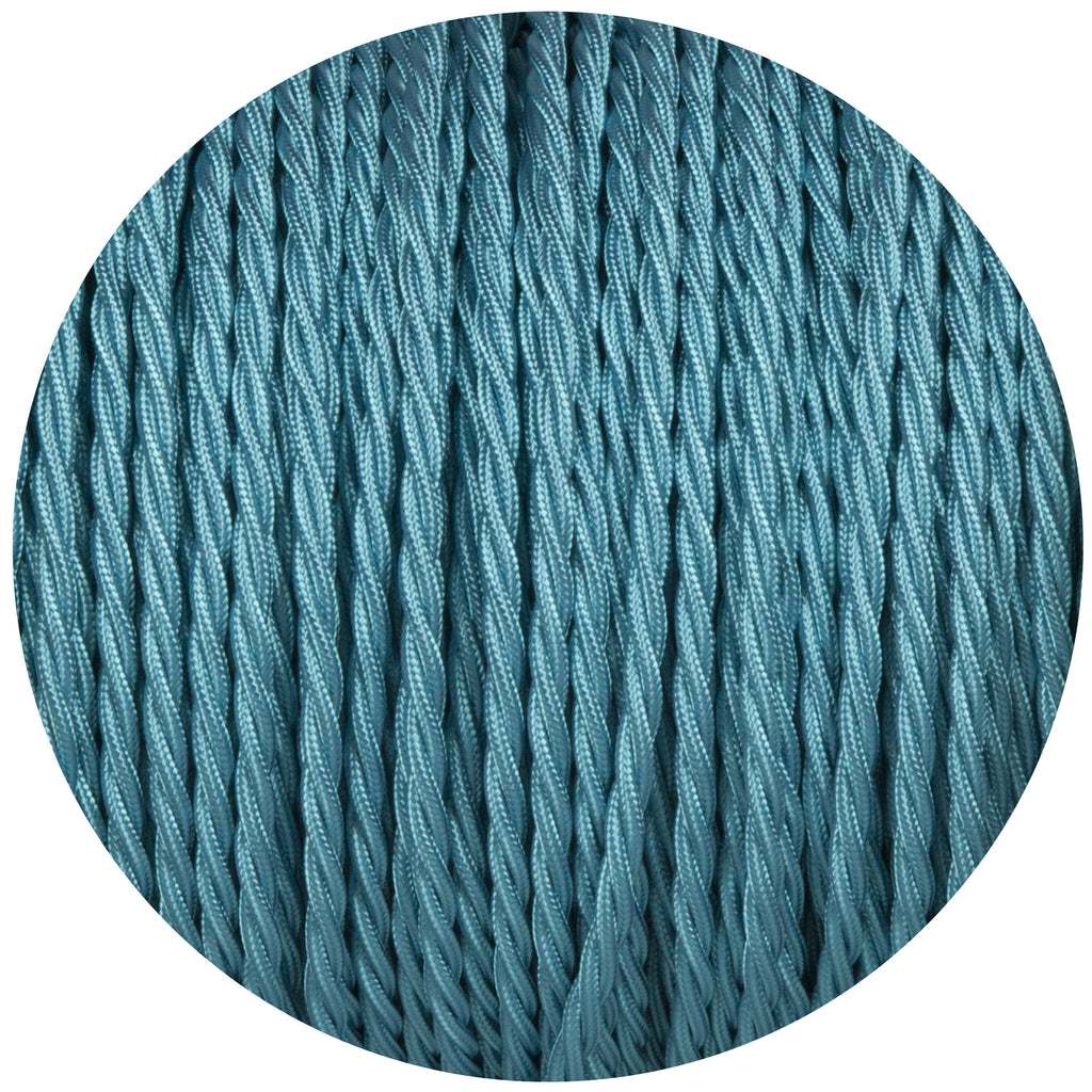 Turquoise Twisted Fabric Braided Cable