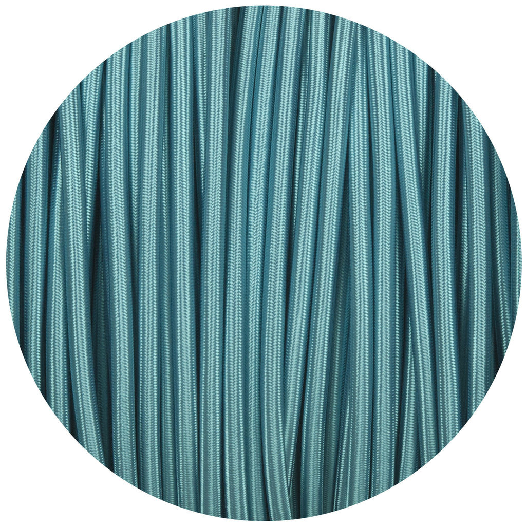 Turquoise Round Fabric Braided Cable
