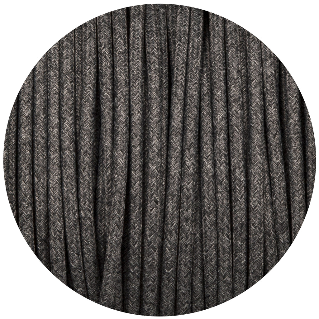 Uniform Grey Canvas Round Fabric Braided Cable