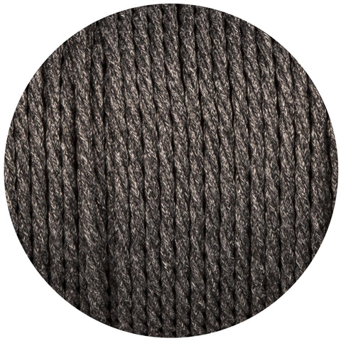 Uniform Grey Canvas Twisted Fabric Braided Cable