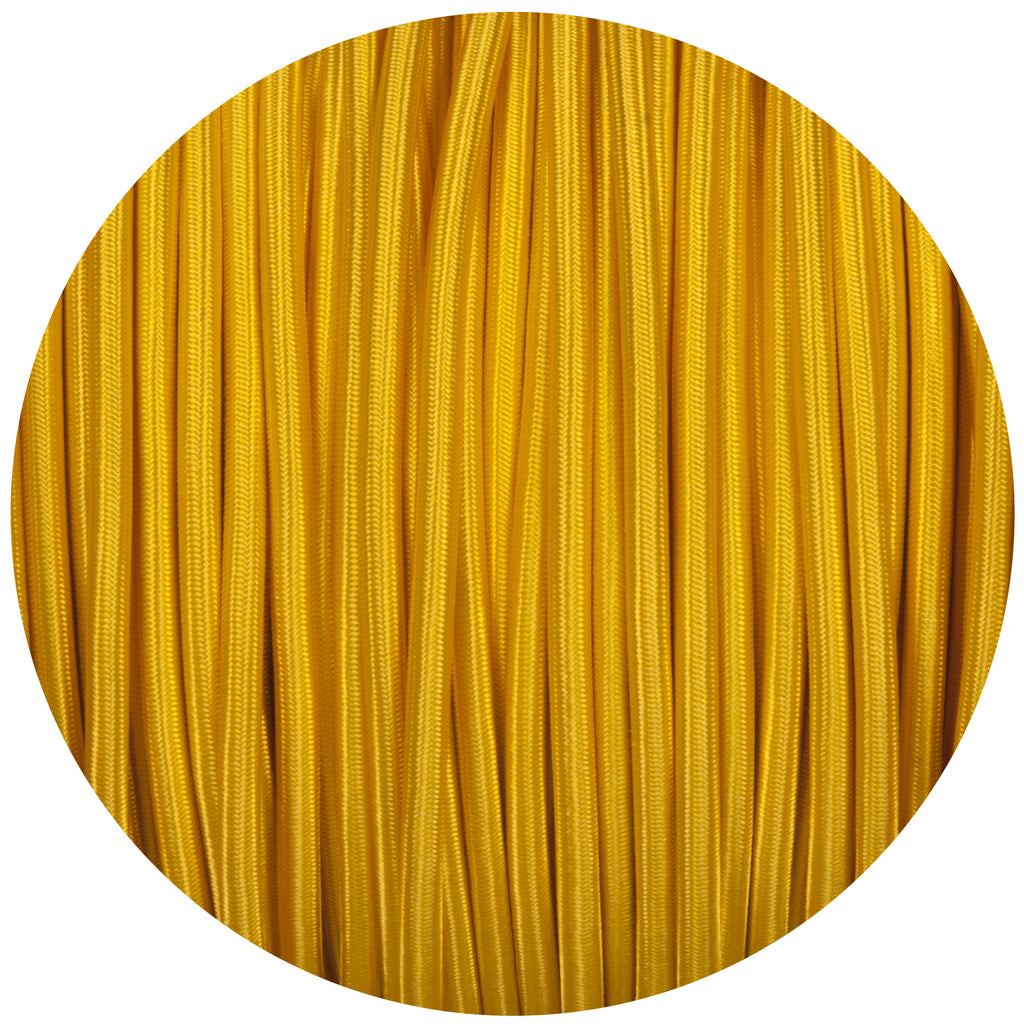 Yellow Round Fabric Braided Cable