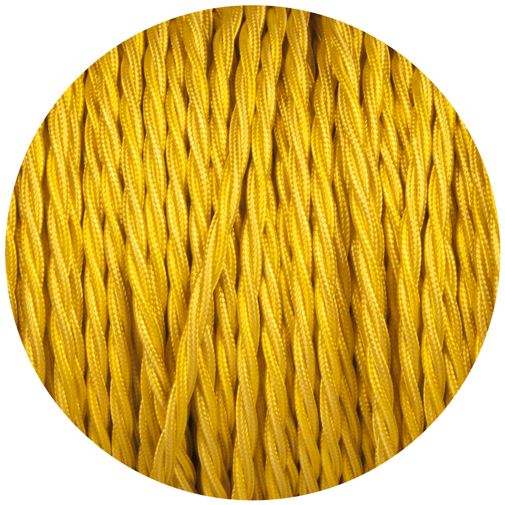 Yellow Twisted Fabric Braided Cable