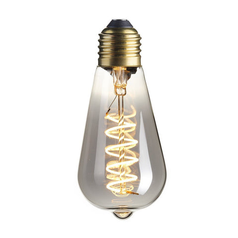 E27 4W LED Titanium Squirrel Spiral Filament Bulb