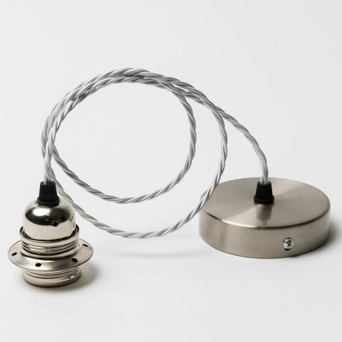 Nickel and Brushed Steel Cordset