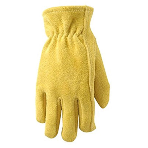 Branded Youth Deerskin Gloves