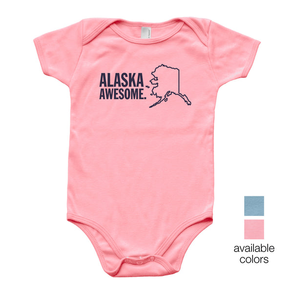 Alaska Awesome Baby Onesie