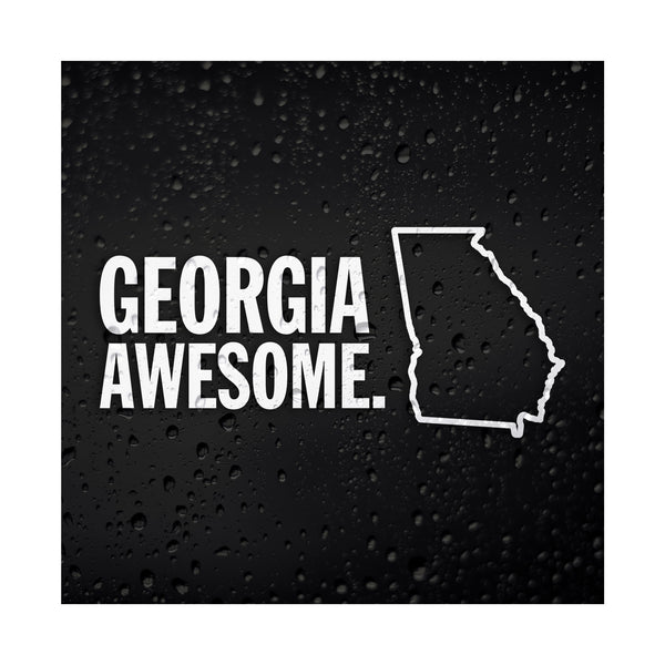 Georgia Awesome White Vinyl Sticker