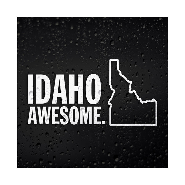 Idaho Awesome White Vinyl Sticker