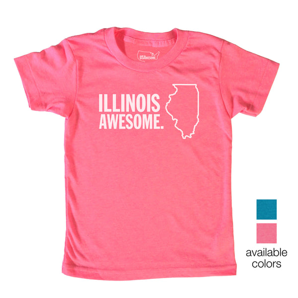 Illinois Awesome Kids T-Shirt