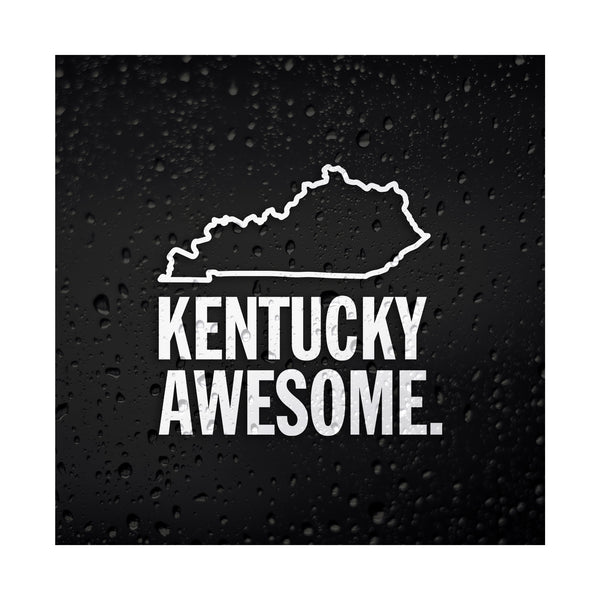 Kentucky Awesome White Vinyl Sticker