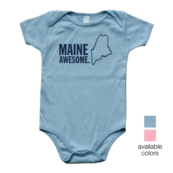 Maine Awesome Baby Onesie