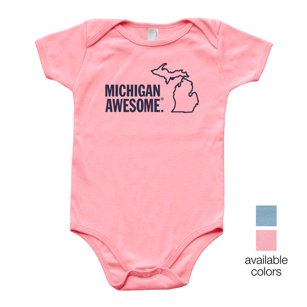 Michigan Awesome Baby Onesie