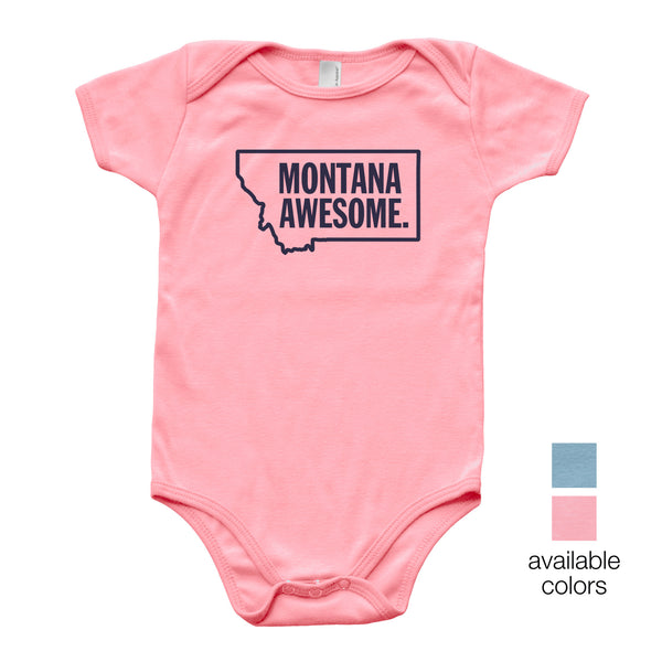 Montana Awesome Baby Onesie