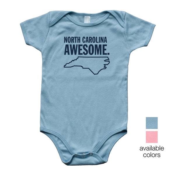 North Carolina Awesome Baby Onesie