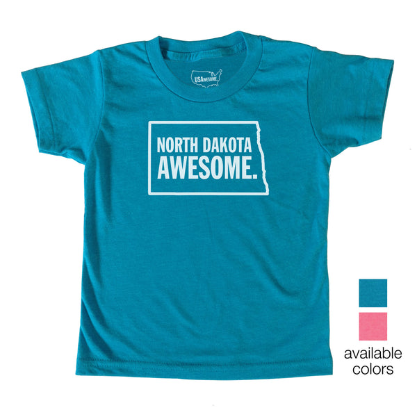 North Dakota Awesome Kids T-Shirt