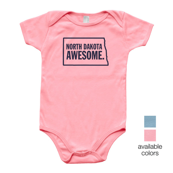 North Dakota Awesome Baby Onesie