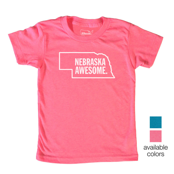 Nebraska Awesome Kids T-Shirt
