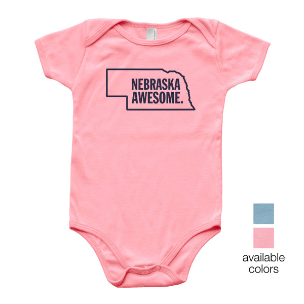 Nebraska Awesome Baby Onesie