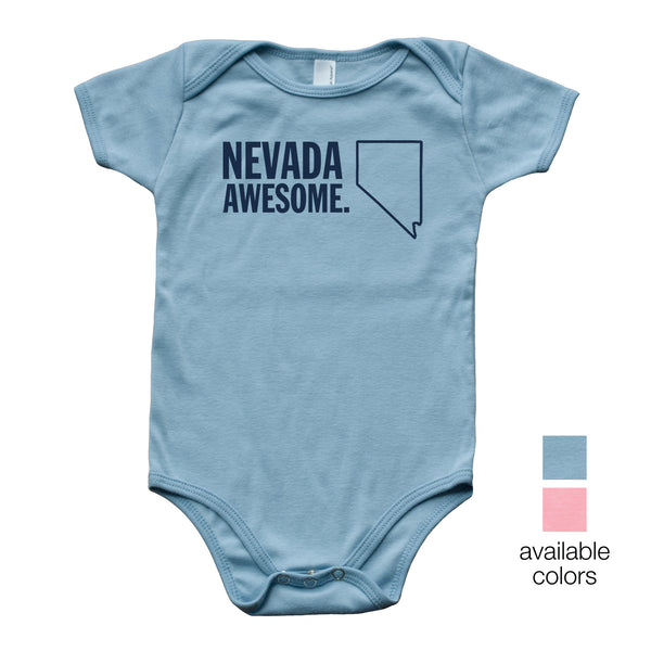 Nevada Awesome Baby Onesie