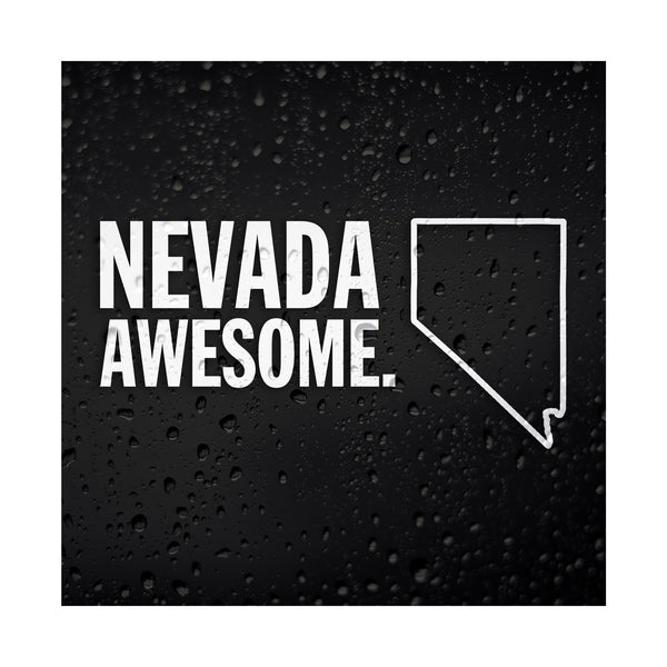 Nevada Awesome White Vinyl Sticker