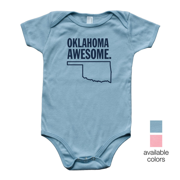 Oklahoma Awesome Baby Onesie