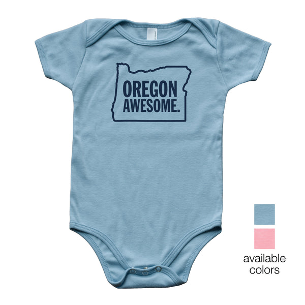 Oregon Awesome Baby Onesie