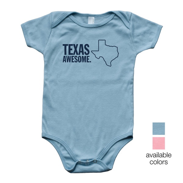 Texas Awesome Baby Onesie