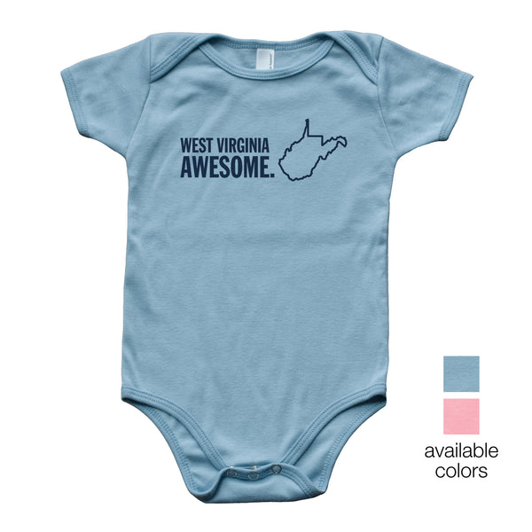 West Virginia Awesome Baby Onesie