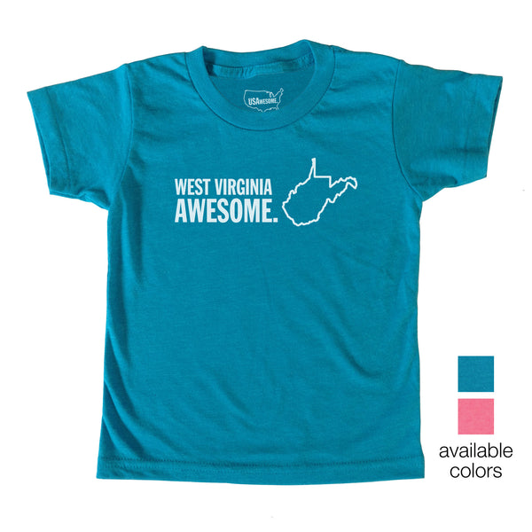 West Virginia Awesome Kids T-Shirt