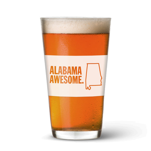 Alabama Awesome Pint Glass