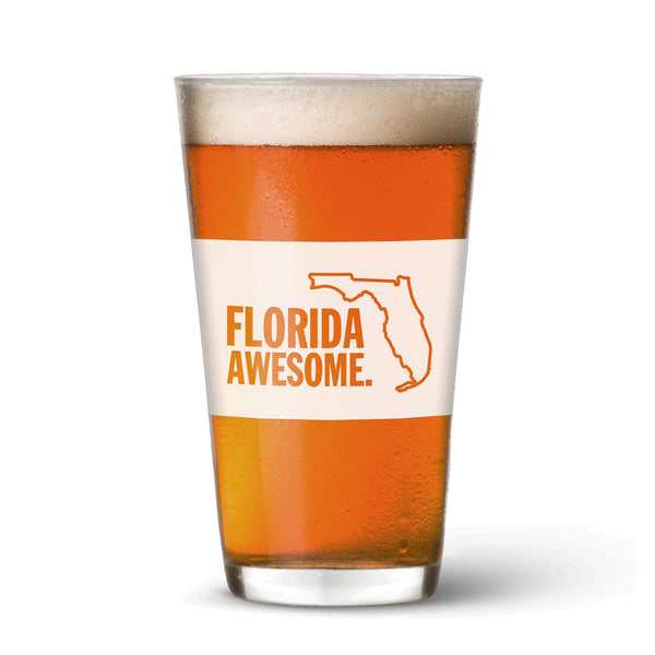 Florida Awesome Pint Glass