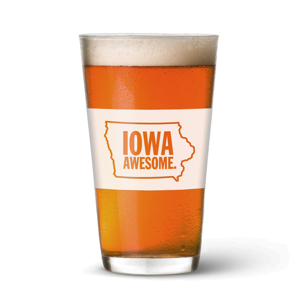 Iowa Awesome Pint Glass