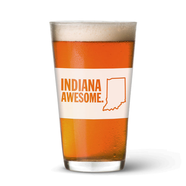 Indiana Awesome Pint Glass