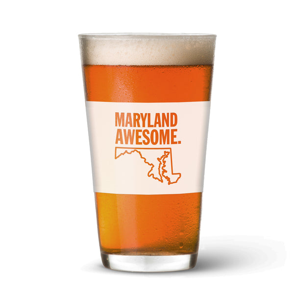 Maryland Awesome Pint Glass
