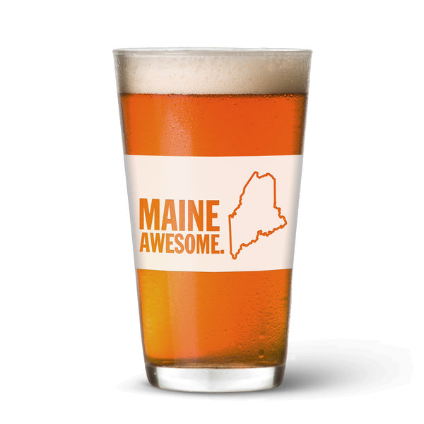 Maine Awesome Pint Glass