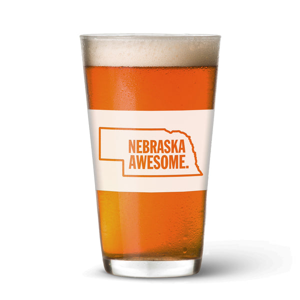 Nebraska Awesome Pint Glass