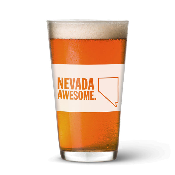 Nevada Awesome Pint Glass
