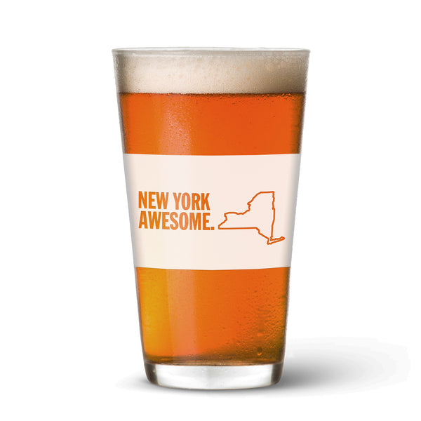 New York Awesome Pint Glass