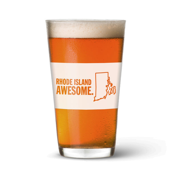 Rhode Island Awesome Pint Glass