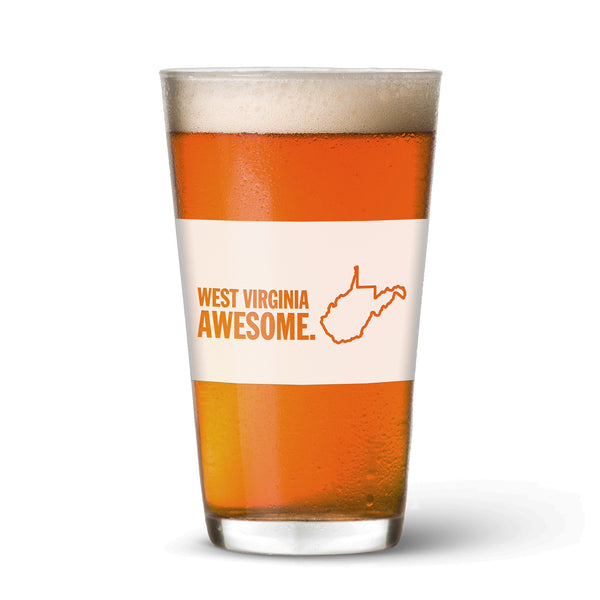 West Virginia Awesome Pint Glass