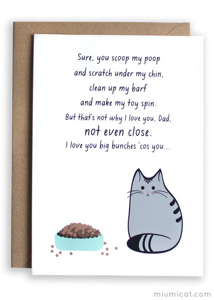 Funny Father's Day Card from The Cat