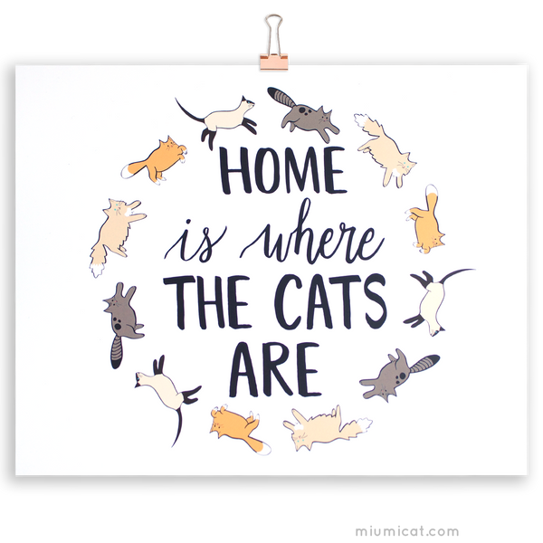Home Is Where The Cats Are Art Print