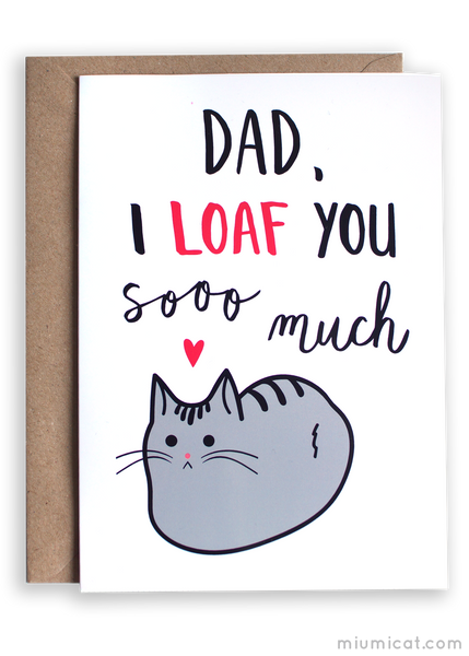 Funny Father's Day Card for Cat Dads