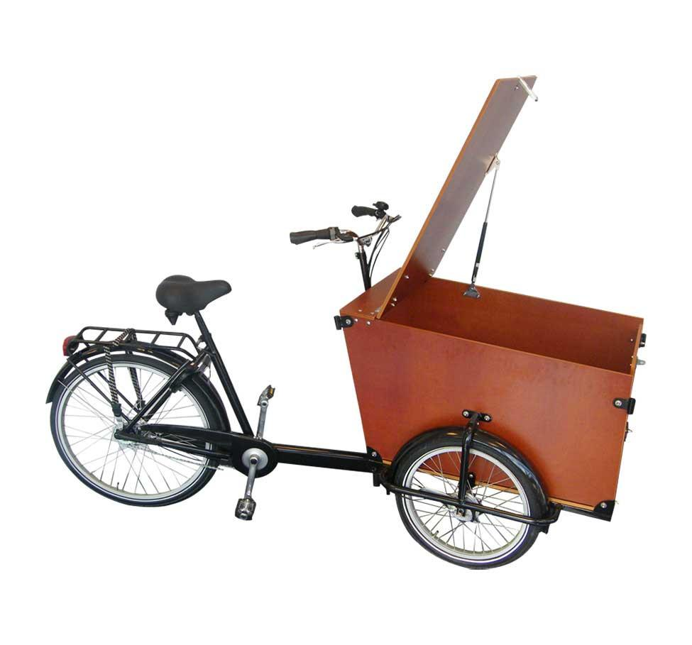 Babboe Big Transporter Cargo Trike with Hinged Lid