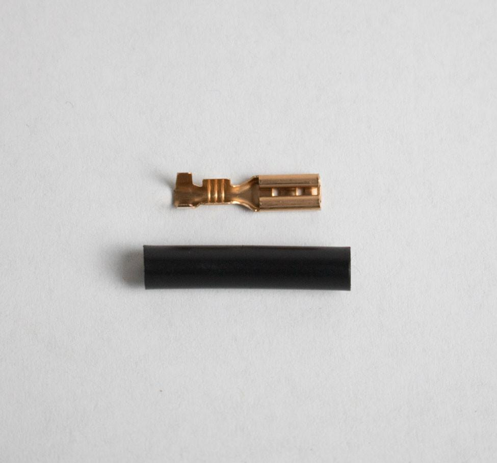 2.8MM FEMALE CONNECTOR FOR DYNAMO LIGHTS (EACH)