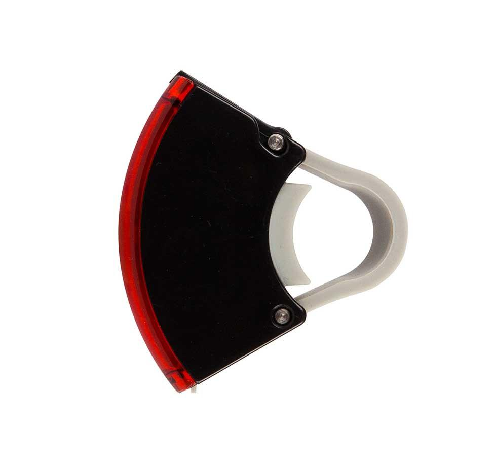 Bookman Curve Rear Light White Front View