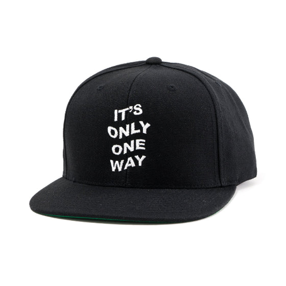It's Only One Way Snapback in Black