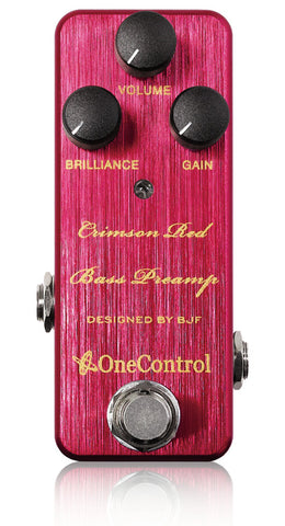 Crimson Red Bass Preamp - BJF Series FX