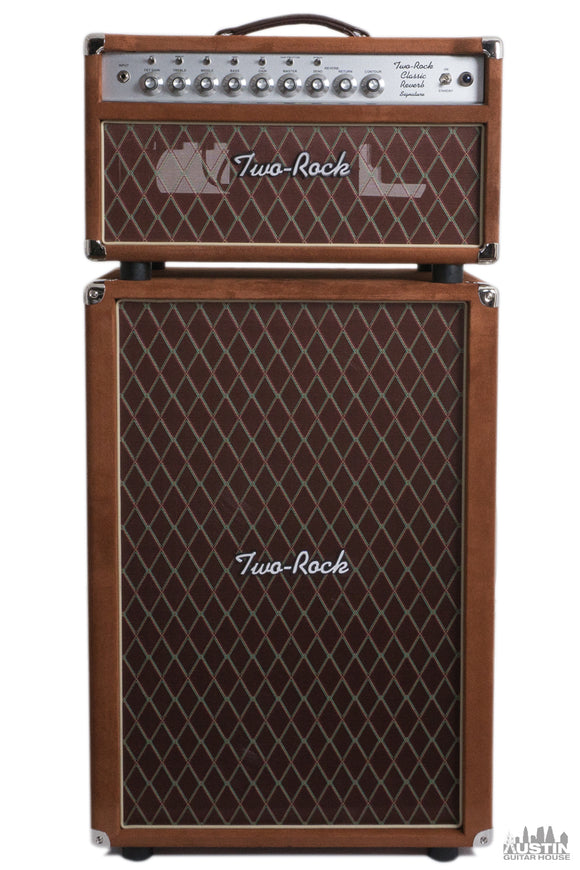 Two-Rock Classic Reverb Signature 100/50W Head and 2x12 Cab Brown Suede/Diamond Cloth