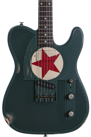 James Trussart Green Red Star Holey Steelcaster